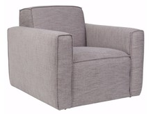 Fotel BORmarki Zuiver w kolorze szarym.  Materiały: Poszycie: tkanina (85,5% polyester, 14,5% polypropylene) ścieralność: 25 000, kolor szary....