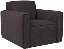 Fotel BOR marki Zuiver w kolorze antracytowym.  Materiały: Poszycie: tkanina (85,5% polyester, 14,5% polypropylene) ścieralność: 25 000, kolor...
