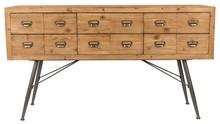 Komoda SIX marki DUTCHBONE powstała z połączenia płyty MDF, litego, jodłowego drewna pokrytego naturalnym lakierem, tkaniny PP oraz malowanej proszkowo...