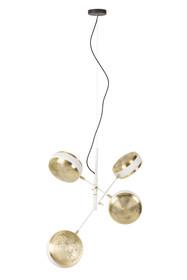Wisząca, sufitowa lampa GRINGO marki Zuiver powstała z połączenia mosiężnych i białych elementów. Cztery połyskujące klosze przywodzą na myśl...