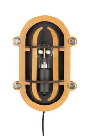 Czarno - brązowa lampa ścienna NAVIGATOR marki Zuiver została wykonana w industrialnym duchu. Lampa wykonana z metalowych elementów.  Wymiary:...