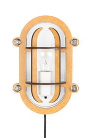 Biało-brązowa lampa ścienna NAVIGATOR marki Zuiver została wykonana w industrialnym duchu. Lampa wykonana z metalowych elementów.  Wymiary:...