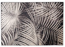 Dywan Palm, marki Zuiver  Materiał: 91% sztuczny jedwab, 9%, spód wykończony lateksem.  Wymiary:240 x 170 x 0,55 cm