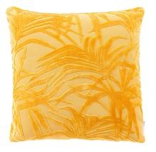 Poduszka MIAMI żółta  Materiał: Tkanina z wzorem: 79% wiskoza, 21% poliester Wypełnienie: 100% poliester  Wymiary:45x45x12 cm