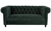 Sofa CHESTER VELVET - ciemna zieleń