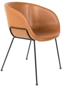 Fotel FESTON - brązowy