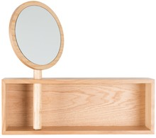 Półka Kandy  Materiał:  Półka wykonana z płyty MDF z okleiną dębową.  Wymiary:50x12x44,5 cm  Maksymalne obciążenie: 6 kg