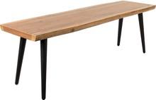 Ławka ALAGON marki DUTCHBONE posiada blat z płyty MDF i forniru z drewna orzechowego, wykończony powłoką PU oraz nogi z malowanej proszkowo, stali w...