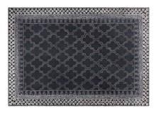 Dywan Kasba tkany ręcznie w kolorze granatowym.  Materiał: 80% wełna, 20% wiskoza Wymiary: 170 x 240 x 0,8 cm