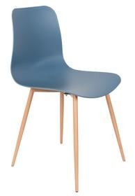 Materiał: nogi: drewno siedzisko: polipropylen w kolorze niebieskim Wymiary: 44,5x49x80 cm Wysokość siedzenia: 42 cm Głębokość siedzenia: 44 cm...