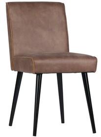 Krzesło Revolutionkremowe  Wymiary:  - Wysokość: 84 cm - Szerokość: 44 cm - Głębokość: 52 cm  Materiał:  - 70% skóra/ 30% pes