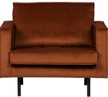 Fotel RODEO rdzawy  Wymiary:  - Wysokość: 85 cm - Szerokość: 105 cm - Głębokość: 86 cm  Materiał:  - aksamit