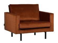 Fotel RODEO aksamitny - rdzawy