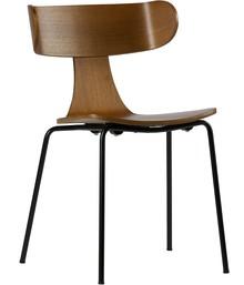 Krzesło Form brązowe  Wymiary:  - Wysokość: 78 cm - Szerokość: 50 cm - Głębokość: 52 cm  Materiał:  - Fornir jesionu, metalowa podstawa -...