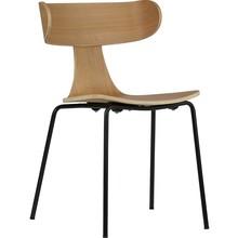 Krzesło Form naturalne  Wymiary:  - Wysokość: 78 cm - Szerokość: 50 cm - Głębokość: 52 cm  Materiał:  - Fornir jesionu, metalowa podstawa -...