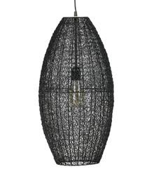 Lampa wisząca Creative metalowa czarna, rozmiar L  Lampa wisząca Creative wykonana jest z metalu i wykończona w kolorze czarnym. Jej abażur jest...