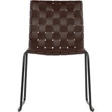 Krzesło ICON skórzane - ciemny brąz
