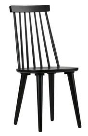 Zestaw 2 stołków barowych drewniane czarne  Kolor:  - Czarny  Wymiary:   - Wysokość: 92 cm - Szerokość: 43 cm - Głębokość: 48 cm ...