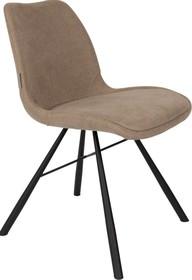 Krzesło BERNT piaskowe  Materiał: Podstawa wykonana jest ze stali Tapicerka to tkanina (90% poliester, 10% nylon)  Wymiary: 48x56,5x79,5 cm Wysokość...