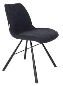 Krzesło BERNT granatowe  Materiał: Podstawa wykonana jest ze stali Tapicerka to tkanina (90% poliester, 10% nylon)  Wymiary: 48x56,5x79,5 cm Wysokość...