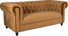 Sofa CHESTER VELVET złoty brąz