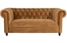 Kolor: złoty brąz Materiał: drewno dębowe, 100% tkaniny poliestrowej aksamitnej Wymiary: 186x94x77 Wysokość podłokietników: 77 Wysokość siedzenia:...