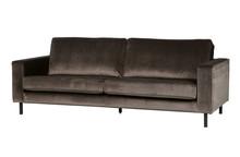 Sofa trzyosobowa ROBIN aksamitna - zielona