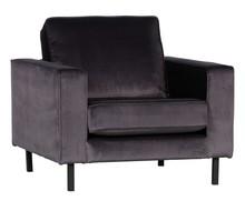 Fotel Robin aksamitny antracytowy  Kolor:  - Antracytowy  Wymiary:  - Wysokość: 86 cm - Szerokość: 105 cm - Głębokość: 85 cm  - Wysokość...