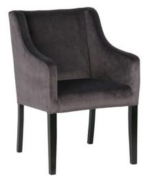 Krzesło do jadalni Liz antracytowe  Kolor:  - Antracytowy  Wymiary:  - Wysokość: 86 cm - Szerokość: 57 cm - Głębokość: 67 cm  Materiał: ...