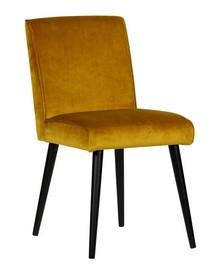 Krzesło do jadalni Sara  Kolor:  - Ochra  Wymiary:  - Wysokość: 92 cm - Szerokość: 47 cm - Głębokość: 54 cm  Materiał:  - Poliester