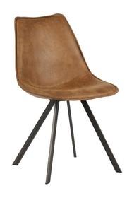 Krzesła do jadalni koniakowe - zestaw 2 sztuk