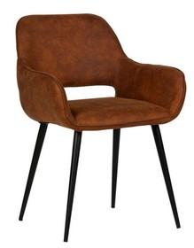 Zestaw 2 krzeseł JELLE - brązowe