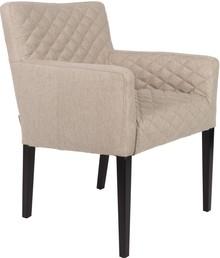 Fotel AARON  Materiał: Obicie wykonane z tkaniny 100% poliester, z przeszyciami. Rama z litego drewna bukowego. Masywne nogi z drewna bukowego, lakierowane...