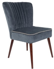 Fotel SMOKER w kolorze ciemnoszarym, marki Dutchbone  Materiał: Obicie wykonane ze sztruksu (20% len, 57% wiskoza, 15% bawełna). Nogi wykonane z...