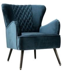<b>Model</b>: Fotel tapicerowany Daisy granatowy<br /><b>Kategoria</b>: Fotele<br /><b>Materiał</b>: materiał...