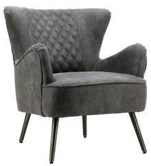 Fotel tapicerowany Daisy ciemno-szary