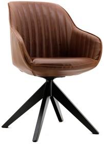 Krzesło/Fotel July tapicerowany ciemny brąz