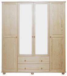 SZAFA SOSNOWA Z LUSTRAMISF-02L  Szafa w całości wykonana z drewna sosnowego. W środkowych drzwiach umieszczone są duże lustra. Połączenie...