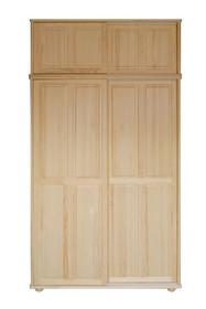 SZAFA SOSNOWA PRZESUWNA Z NADSTAWKĄ SF-05NAD  Szafa w całości wykonana z drewna sosnowego. Posiada drzwi przesuwne zamontowane na trwałych prowadnicach....