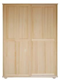 SZAFA SOSNOWA PRZESUWNA SF-06  Szafa w całości wykonana z drewna sosnowego. Posiada drzwi przesuwne zamontowane na trwałych prowadnicach. Połączenie...