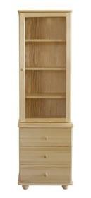 WITRYNA DREWNIANA SOSNOWA Z ELEMENTAMI SZKŁAKR-33  Witryna w całości wykonana z drewna sosnowego. W górnych drzwiczkach umieszczone są szkła....