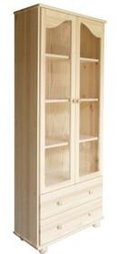 WITRYNA DREWNIANA SOSNOWA Z ELEMENTAMI SZKŁAWIT-36  Witryna w całości wykonana z drewna sosnowego. W górnych drzwiach umieszczone są szkła....