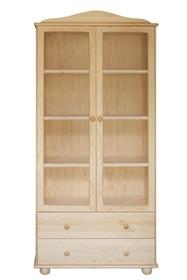 WITRYNA DREWNIANA SOSNOWA Z ELEMENTAMI SZKŁA WIT-38  Witryna w całości wykonana z drewna sosnowego. W górnych drzwiach umieszczone są szkła....