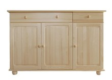 KOMODA SOSNOWA KD-53  Komoda w całości wykonana z drewna sosnowego. Pojemna i solidna. Połączenie półek z szufladami ułatwia przechowywanie i...