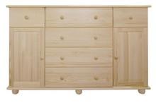 KOMODA SOSNOWA KD-54  Komoda w całości wykonana z drewna sosnowego. Pojemna i solidna. Połączenie półek z szufladami ułatwia przechowywanie i...