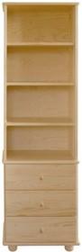 BIBLIOTECZKA SOSNOWA BIBL-40  Biblioteczka w całości wykonana z drewna sosnowego. Funkcjonalna, pojemna, solidna. Połączenie półek z funkcjonalnymi...