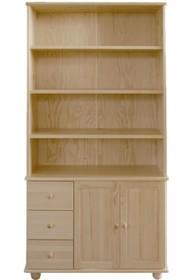 BIBLIOTECZKA SOSNOWA BIBL-43  Biblioteczka w całości wykonana z drewna sosnowego. Połączenie półek z funkcjonalnymi szufladami pozwala na łatwe...