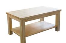 ŁAWA SOSNOWA Z PÓŁKĄ ST-71/70  Ława, stół z półką w całości wykonana z drewna sosnowego. Grubość blatu: 30mm, wymiar nóg: 70x70mm. Poręczna...