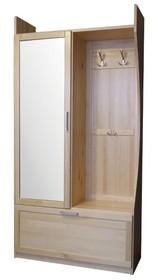 GARDEROBA SOSNOWA Z LUSTREM GR-79L  Garderoba w całości wykonana z drewna sosnowego. W górnych drzwiach umieszczone jest lustro. Połączenie półek z...