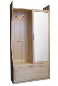 GARDEROBA SOSNOWA Z LUSTREMGR-80P  Garderoba w całości wykonana z drewna sosnowego. W górnych drzwiach umieszczone jest lustro. Połączenie...